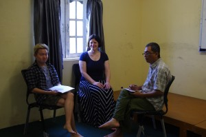 Htoo Paing consults tutors Rachel & Dr Aung Min about his treatment 2